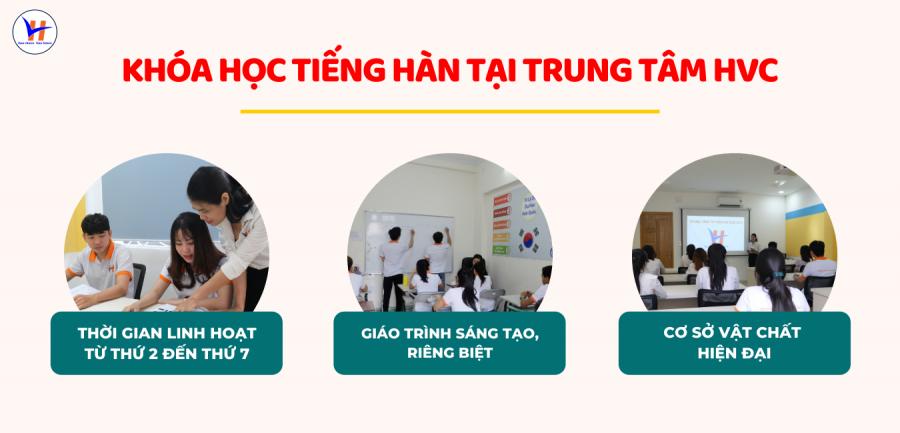 Khoá học tiếng Hàn tại trung tâm HVC